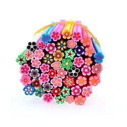 Décoration d'art d'ongle en argile polymère , soins des ongles de mode , pas de tubes de trou, fleur, couleur mixte, 5 cm(MRMJ-R052-130F)