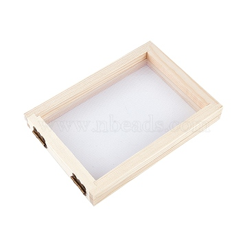 Wooden Paper Making, Papermaking Mould Frame, Screen Tools, for DIY Paper Craft, BurlyWood, 18x12.7x2.3cm(DIY-WH0171-46A)