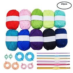 Couleur mixte, Fil: 2~3mm, 100 m / rouleau; crochets: 148x3.5~8mm; outil: 51~99x35~90x12mm(DIY-BC0002-01)
