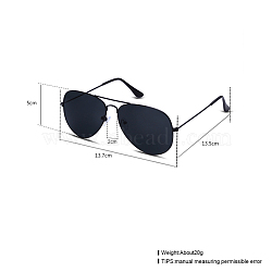 Trendy Women Sunglasses, Alloy Frames and Resin Lenses, Gray, 13.7x5cm(SG-BB22124-5)