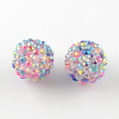 ab-perles de couleur strass de résine(RESI-S315-20x22-11)-1