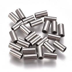304 inoxydable perles de tubes d'acier, couleur inox, 6x3 mm, trou: 2 mm(STAS-F224-01P-B)