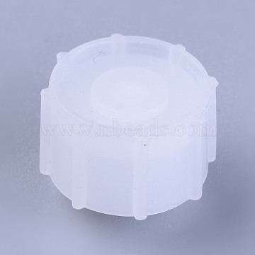 Plastic Stopper, Dispensing Industrial Syringe Barrel Tip Caps, Clear, 12~12.5x10mm(TOOL-WH0103-11A)