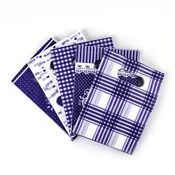 Sacs en plastique imprimés, rectangle, mauve, 60x50 cm(PE-T003-50x60cm-03)
