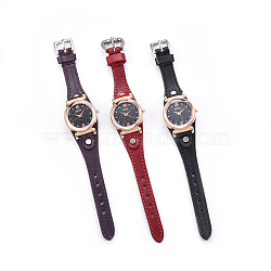 """Наручные часы высокого качества, кварцевые часы, Голова из сплава, разноцветные, 9-1/8""""~9-1/2"""" (23.1~24.2 см); 13~14x2.5~3 мм; смотреть голову: 34x37x13 мм(WACH-I017-12)"""