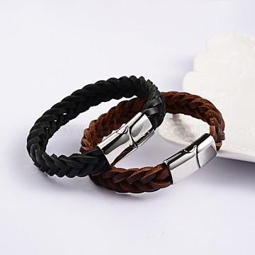 Mixed Color Leather Bracelets