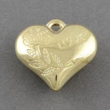 28mm Heart Acrylic Pendants