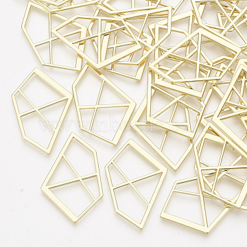 Alloy Pendants, Pentagon, Light Gold, 36x23x1.5mm(X-PALLOY-T067-99LG)