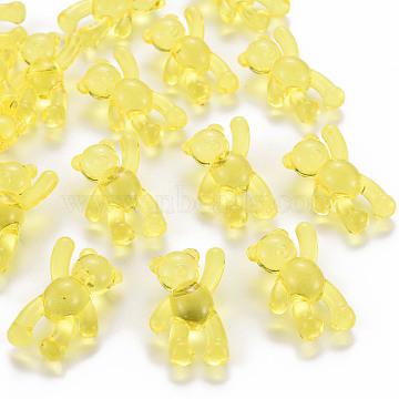 Transparent Acrylic Beads, Bear, Yellow, 37x28x13mm, Hole: 2.5mm, about 133pcs/500g(MACR-S373-01B-916)