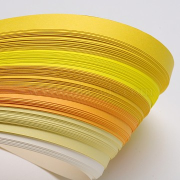 6 Colors Quilling Paper Strips, Yellow, 530x10mm; about 120strips/bag, 20strips/color(DIY-J001-10mm-A02)