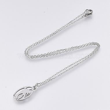 201 Stainless Steel Pendant Necklaces(NJEW-T009-JN123-40-1)-2