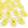 Transparent Acrylic Beads, Bear, Yellow, 37x28x13mm, Hole: 2.5mm, about 133pcs/500g