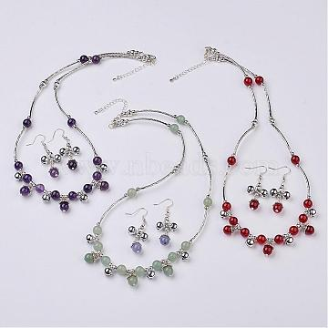 Mixed Color Mixed Stone Earrings & Necklaces