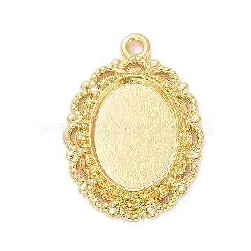 Golden Oval Alloy Pendants
