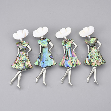 Colorful Shell Safety Brooch