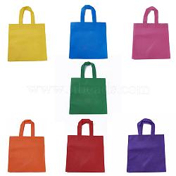 Eco-Friendly Reusable Bags, Non Woven Fabric Shopping Bags, Mixed Color, 37x24.5cm(X-ABAG-WH005-25cm-M)