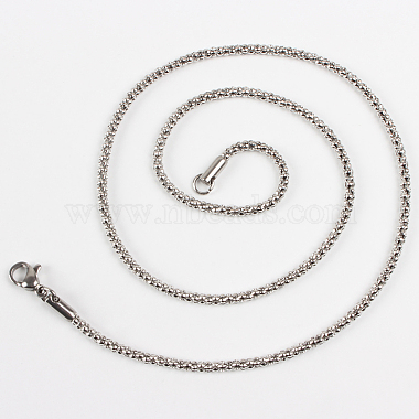 304 Stainless Steel Popcorn Necklace Making(STAS-P046-11)-3