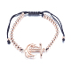Adjustable Environmental Brass Braided Beaded Bracelets(BJEW-F282-22RG-RS)-2