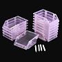 Plastic Beads Display Trays, Pink, 17x12x8cm, 12pcs/set