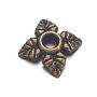 тибетском стиле сплав шарик крышки, кадмия и никеля и свинца, цветок, античная бронза, 6x6x2 mm, отверстия: 1 mm