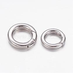 Anneau de porte à ressort en 304 acier inoxydable, o bagues, anneau, couleur inoxydable, 15mm; Diamètre intérieur de 9mm; 2.5mm(STAS-D070-01P-1)
