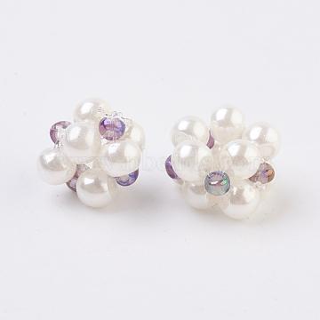 8mm Violet Flower Lampwork Beads