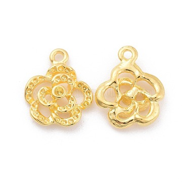 Golden Flower Alloy Charms