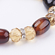 Natural Agate and Glass Stretch Bracelets(BJEW-K150-02)-2