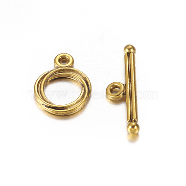Antique Golden Alloy Toggle and Tbars