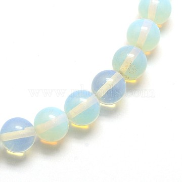 Opal Round Beads Strands, 8mm, Hole: 1mm; about 48pcs/strand, 14 inches(X-G-O047-08-8mm)