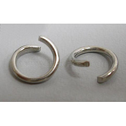Iron Jump Rings, Open, Platinum Color, Single Ring, 21 Gauge, 5x0.7mm; Inner Diameter: 3.6mm(X-JRO5mm)