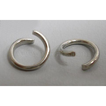 Platinum Ring Iron Open Jump Rings