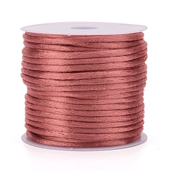 Nylon Thread, Rattail Satin Cord, Indian Red, 2mm, about 10.93 yards(10m)/roll(X-NWIR-L006-2mm-34)