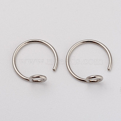 316L Stainless Steel Earring Hooks, Stainless Steel Color, 10x10x4mm, Pin: 0.7mm(X-STAS-G229-04P)