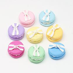 Cabochons en pâte polymère manuels, macarons, couleur mixte, 24~25x17~20.5mm(X-PORC-S1007-28)