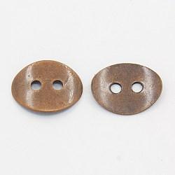 Fermoirs de fermoirs en laiton, sans nickel, cuivre rouge, environ 10 mm de large, Longueur 14mm, épaisseur de 1mm, Trou: 2mm(KK-G080-R-NF)