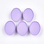 Medium Purple Oval Iron Slide Charms(X-IFIN-T009-15D)