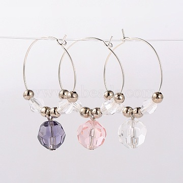 Mixed Color Glass Wine Glass Charms