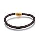 Leather Braided Cord Bracelets(BJEW-E352-03B-G)-1