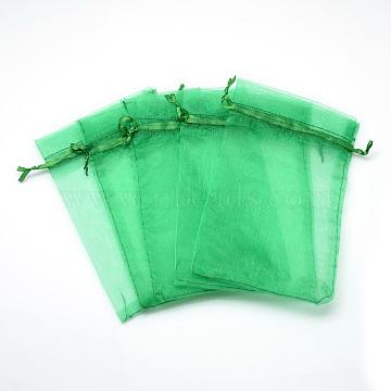 Organza Bags, High Dense, Rectangle, LimeGreen, 30x20cm(X-OP-T001-20x30-22)