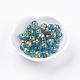 Flower Painted Glass Beads(GLAA-E399-8mm-B02)-2