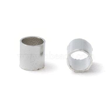 2MM Platinum Plated Tube Crimp Beads(X-E003)-2
