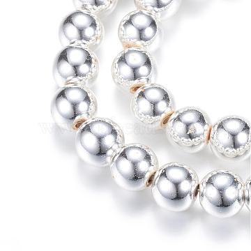 6mm Round Non-magnetic Hematite Beads