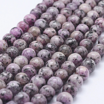 Nature Labradorite Beads Strands, Dyed, Round, Thistle, 8~8.5mm, Hole: 1mm, about 47~49pcs/strand, 14.5 inches~14.9 inches(37~38cm)(X-G-E443-A16)