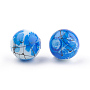 Drawbench & Baking Painted Glass Beads Strands, Round, Blue, 4mm; Hole: 1.1~1.3mm; about 200pcs/strand, 31.4 inches
