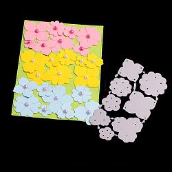 Cadres de coupe en acier au carbone matrices pochoirs, pour bricolage scrapbooking / album photo, carte de papier de bricolage décoratif, mat platine, 11.5x6.3x0.08 cm(DIY-F028-18)