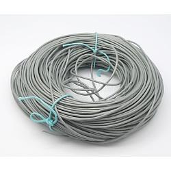 Cordon en cuir de vachette, cordon de bijoux en cuir , grises , taille: environ 1.5 mm d'épaisseur(X-WL-Q003-2)