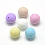 16mm Mixed Color Round Silicone Beads(X-SIL-T037-M)