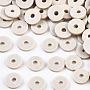 Gainsboro Disc Polymer Clay Beads(CLAY-R067-6.0mm-B02)