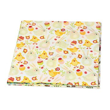 Easter Eggs Chick Bunny Flower Printed Quilt Fabric Bundles, for Easter Holiday and DIY Crafts Supplies, Mixed Color, 25x25cm, about 10pcs/set(DIY-O010-01A)
